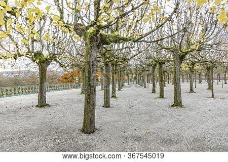 Scenic Baroque Garden In Weilburg, Hessen, Germany