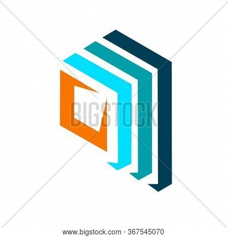Abstract Stacked Square Shape Logo. Vector Abstract Logo. Abstract Design Element. Modern Logo. Desi