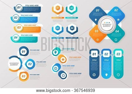 Modern Infographic Elements & Tools Business Infographic Template, Can Be Used For Presentation, Web