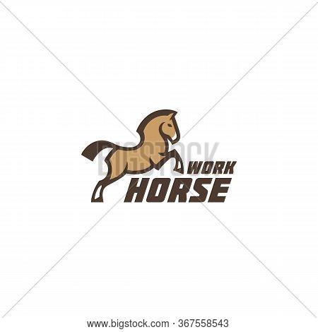 Workhorse Logo, Label Design Template. Vector Illustration.
