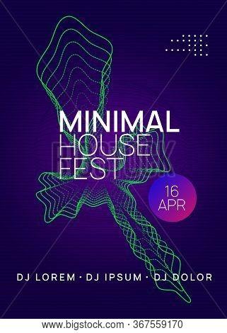 Dj Event. Futuristic Show Banner Design. Dynamic Gradient Shape And Line. Dj Event Neon Flyer. Techn