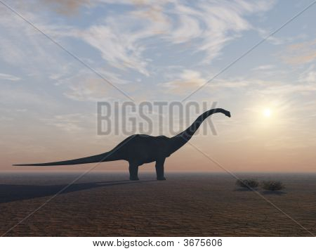 Diplodocus Dinosaur At Its End