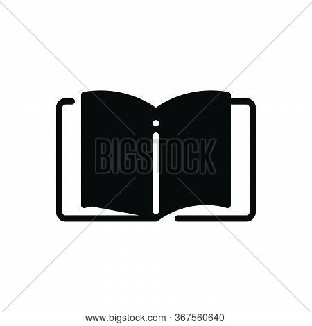 Black Solid Icon For Bookkeeping Journal Mag Accounting