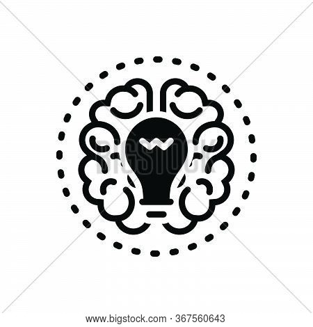 Black Solid Icon For Brainstorming Ideas Mind Creative Conceptual