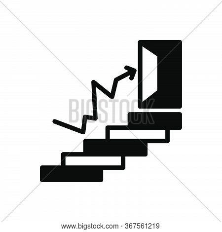 Black Solid Icon For Success  Accomplishment Prosperity Achievement
