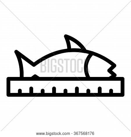 Fish Farm Length Icon. Outline Fish Farm Length Vector Icon For Web Design Isolated On White Backgro