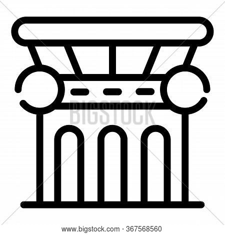 Legislative Column Icon. Outline Legislative Column Vector Icon For Web Design Isolated On White Bac