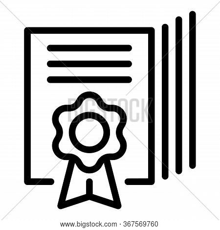 Office Notary Emblem Icon. Outline Office Notary Emblem Vector Icon For Web Design Isolated On White