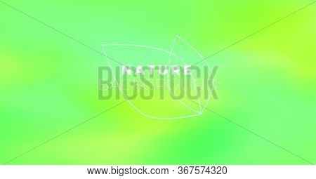 Blur Abstract Aesthetic Background With Green Leaves