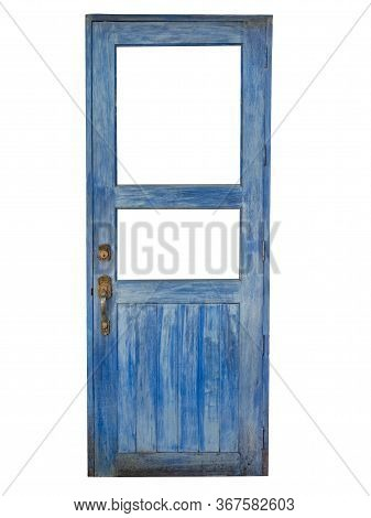 Vintage Old Wooden Blue Color Door  Color Door
