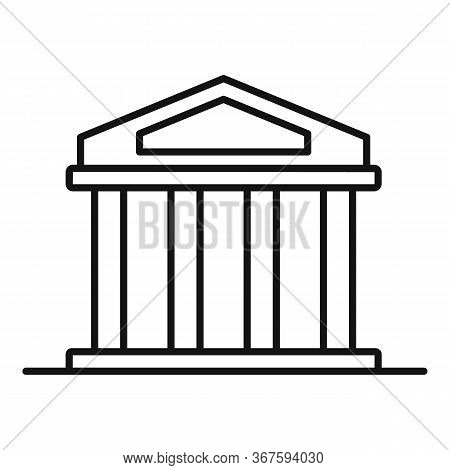 Bank Money Laundering Icon. Outline Bank Money Laundering Vector Icon For Web Design Isolated On Whi