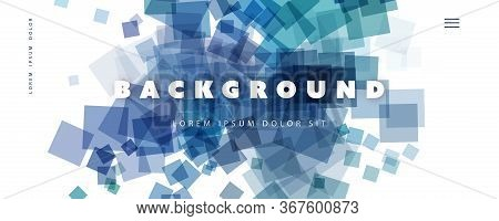 Abstract Colorful Minimal Geometric Pattern Background, Multi Purpose Template, Squares Gradient Sha