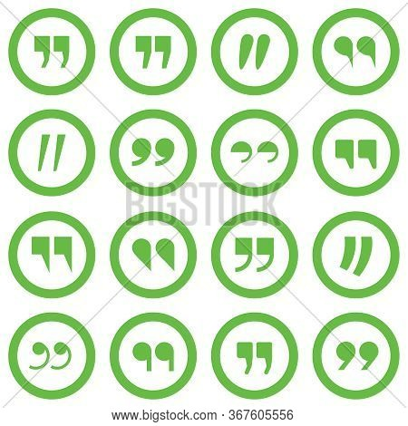 Punctuation Marks. Large Set Of Punctuation Marks In Circles Isolated On A White Background. Vector,