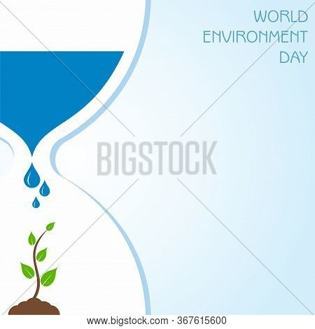 Vector Illustration For World Environment Day Concept Logo Design - 5th June World Environment Day A