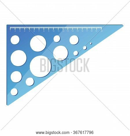 Geometric Angle Ruler Icon. Cartoon Of Geometric Angle Ruler Vector Icon For Web Design Isolated On