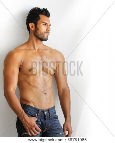 A young man with a beautiful physique