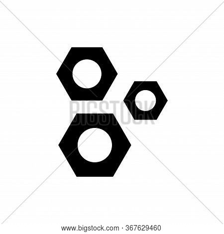 Nuts And Bolts Icon Flat Vector Template Design Trendy