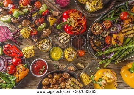 Assortment Barbecue Vegan Food
