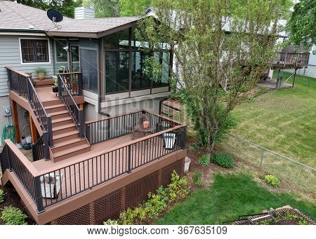 Remodeled Home With Sunroom And Composite Deck