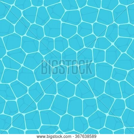 Vector Illustration Of Summer Swimming Pool Water