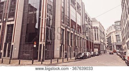Brussels, Belgium Circa January, 2020: Streets Of Brussels, The Capital City Of Belgium, European Ar
