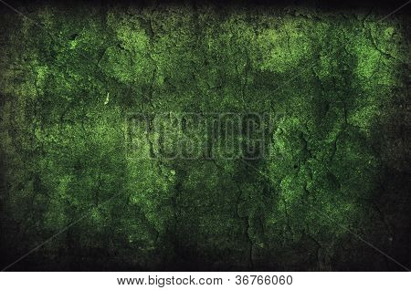 Green Grungy Wall