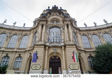 Budapest, Hungary - February 23, 2016: The Exterior Of The Museum Of Agriculture In Budapest, Hungar
