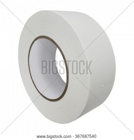 White Duct Tape with Clipping Path over white.