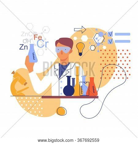 Stylized Image Of A Chemist In The Laboratory