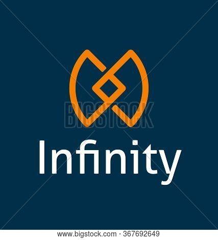 Infinity Logo Template Vector Eps File. Infinity Symbol Logo Template