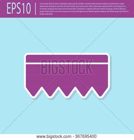 Retro Purple Sponge With Bubbles Icon Isolated On Turquoise Background. Wisp Of Bast For Washing Dis