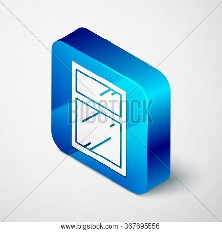 Isometric Cleaning Service For Windows Icon Isolated On Grey Background. Squeegee, Scraper, Wiper. B