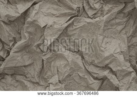 Old Vintage Crumpled Paper Texture For Background