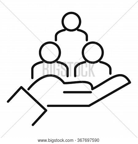 Care Collaboration Icon. Outline Care Collaboration Vector Icon For Web Design Isolated On White Bac