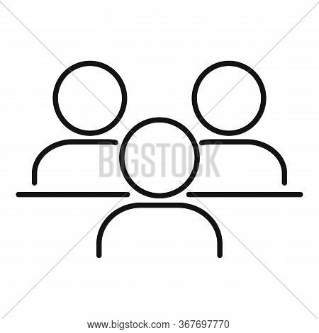 Teamwork Collaboration Icon. Outline Teamwork Collaboration Vector Icon For Web Design Isolated On W
