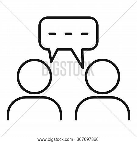 Trust Collaboration Icon. Outline Trust Collaboration Vector Icon For Web Design Isolated On White B