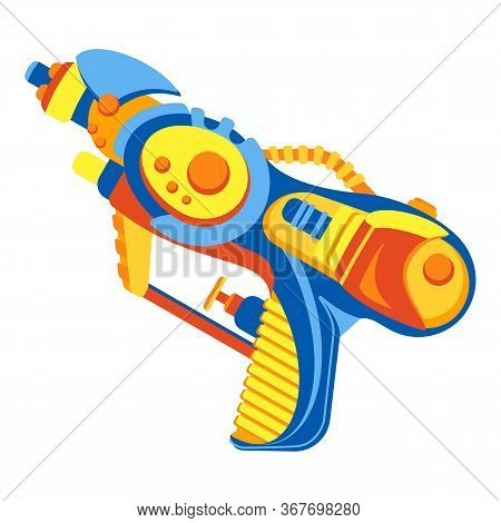 Water Gun Icon. Cartoon Of Water Gun Vector Icon For Web Design Isolated On White Background