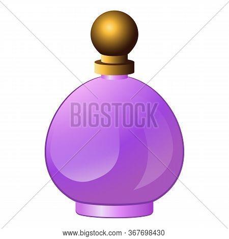 Perfume Bottle Icon. Cartoon Of Perfume Bottle Vector Icon For Web Design Isolated On White Backgrou