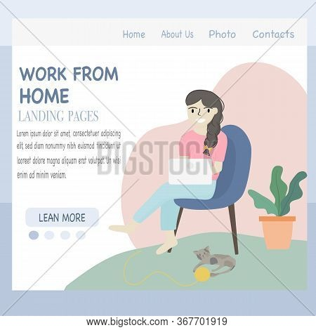 Coronavirus Covid-19 Concept, Stay At Home. Company Employees Can Work At Home To Avoid Dangerous Vi