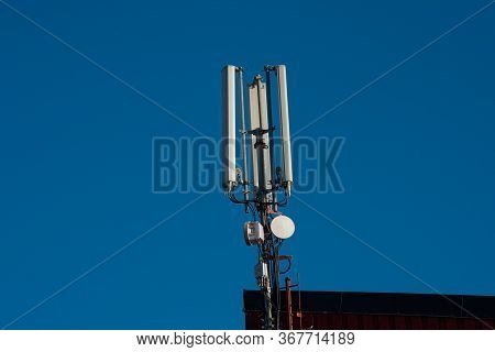 Antennas For Mobile Telecommunications On A Building
