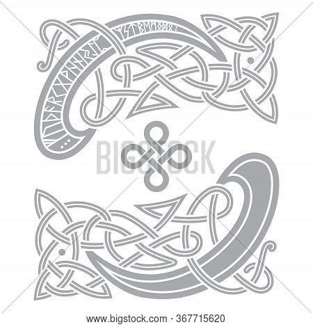 Ancient Celtic, Scandinavian Pattern, Scandinavian Knot - Work Illustration