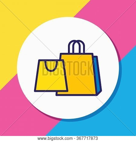 Vector Illustration Of Shopping Icon Colored Line. Beautiful Lifestyle Element Also Can Be Used As M