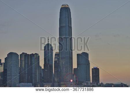 Cityscape Hong Kong And Central At Twilight 15 May 2020