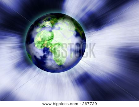 Earth In Background