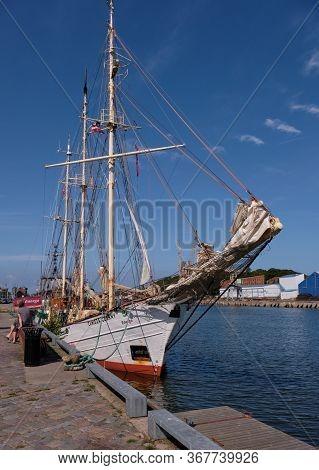 Sailing Vessel In Liepaja Harbour