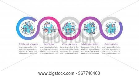 Social Welfare Vector Infographic Template. Organization Worker Support Presentation Design Elements