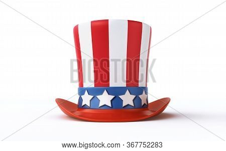Uncle Sam's Hat Isolated On White Background (3d Rendering)
