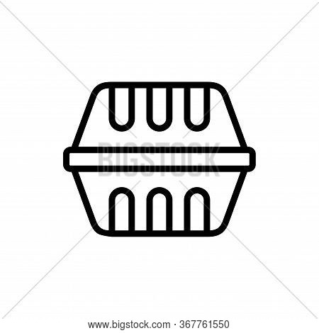 Styrofoam Box Icon Flat Vector Template Design Trendy
