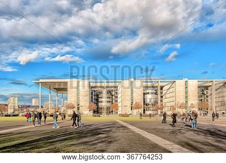 Berlin, Germany - December 9, 2019: German Chancellery. The Chancellor's Executive Offices Are House