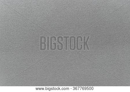 Silver Texture Background. Shiny Wall Shimmer. Horizontal Image. Selective Focus